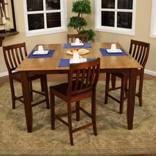 <strong>American Heritage</strong> Andria 5 Piece Counter Height Dining Set