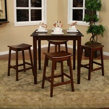 Marsala 5 Piece Counter Height Dining Set