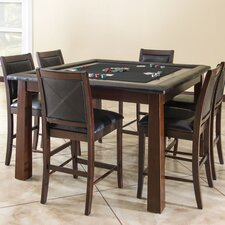 Archer Poker Table Set with 4 Devera Stools