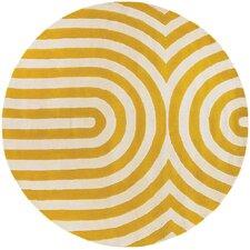 Tufted Pile Yellow Geometric Rug