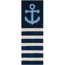 Tufted Pile Sailor Blue Area Rug