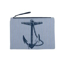 Anchor Seersucker Pouch