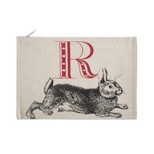 "Vintage Engravings Pictorial Alphabet ""R"" Pouch"