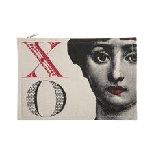"Vintage Engravings Pictorial Alphabet ""X"" Pouch"