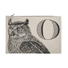 "Vintage Engravings Pictorial Alphabet ""O"" Pouch"