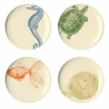 Sea Life Dessert Plate (Set of 4)