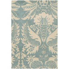 <strong>Thomas Paul</strong> Tufted Pile Powder/Cream Damask Rug