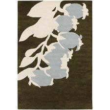 <strong>Thomas Paul</strong> Tufted Pile Green/Dove Buds Rug