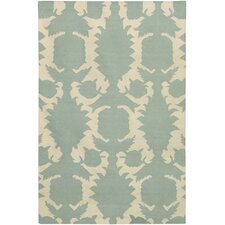 <strong>Thomas Paul</strong> Flat-weave Dhurrie Dove/Cream Flock Rug