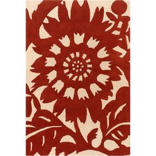 <strong>Thomas Paul</strong> Tufted Pile Persimmon/Cream Zinnia Rug