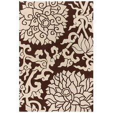Tufted Pile Chocolate/Cream Blossom Rug