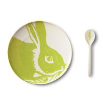 Bunny 4 Piece Dinnerware Set
