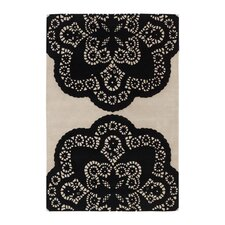 <strong>Thomas Paul</strong> Tufted Pile Ebony/Cream Doily Rug