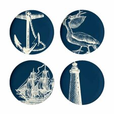 "Scrimshaw 11"" Dinner Plate (Set of 4)"