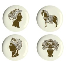 "Artifacts 9"" Dessert Plates (Set of 4)"
