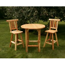 <strong>Moon Valley Rustic</strong> 3 Piece Bar Height Bistro Set