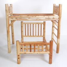 Nicholas Twin over Twin L-Shaped Bunk Bed with Built-In Ladder