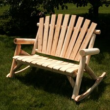 <strong>Moon Valley Rustic</strong> Settee Rocker