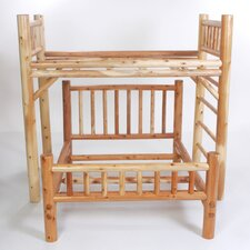 Nicholas Twin over Full L-Shaped Bunk Bed with Built-In Ladder