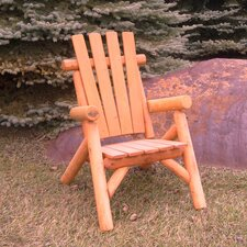 <strong>Moon Valley Rustic</strong> Cedar Stained Lawn Chair