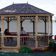 Monterey Screen 10 Ft. W x 14 Ft. D Cedar Gazebo
