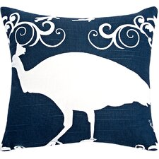 Peacock Cotton Accent Pillow