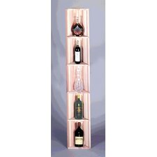 Redwood Triangular 5 Bottle Wine Rack