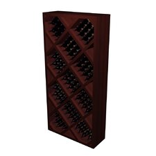 Designer Series 212 Bottle Diamond Bin with Face Trim Wine Rack
