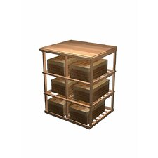 Designer Series 6 Case Double Deep Storage Table