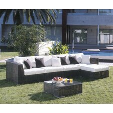 <strong>Hospitality Rattan</strong> Soho 6 Piece Deep Seating Group with Cushions
