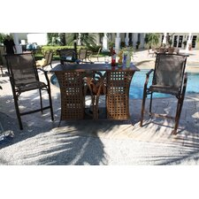 <strong>Hospitality Rattan</strong> Chub Cay Patio 3 Piece Bar Height Dining Set
