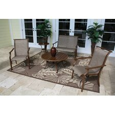 <strong>Hospitality Rattan</strong> Chub Cay 5 Piece Lounge Seating Group