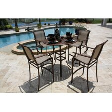 Chub Cay Patio 5 Piece Bar Height Dining Set
