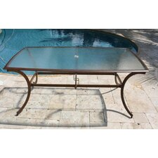 <strong>Hospitality Rattan</strong> Coco Palm Patio Rectangular Dining Table