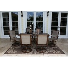 <strong>Hospitality Rattan</strong> Chub Cay Patio 7 Piece Dining Set