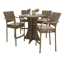 <strong>Hospitality Rattan</strong> Grenada 5 Piece Patio Bar Height Dining Set