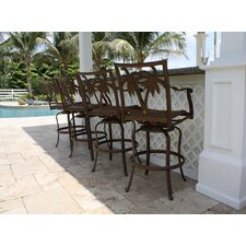 Coco Palm Patio Swivel Barstool (Set of 4)