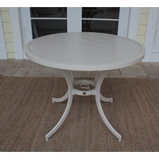 <strong>Hospitality Rattan</strong> Outdoor Slatted Aluminum Bistro Dining Table