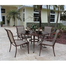 <strong>Hospitality Rattan</strong> Chub Cay Patio 5 Piece Dining Set