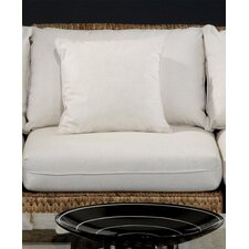 <strong>Hospitality Rattan</strong> Seagrass Middle Armless Section Deep Seating Chair with Cushion
