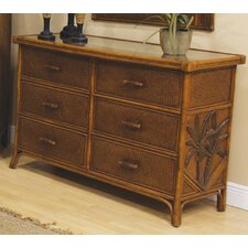 Cancun Palm 6 Drawer Dresser