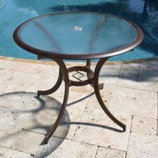 <strong>Hospitality Rattan</strong> Coco Palm Patio Round Bistro Dining Table