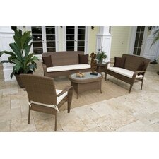 <strong>Hospitality Rattan</strong> Grenada Patio 5 Piece Lounge Seating Group