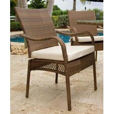 <strong>Hospitality Rattan</strong> Grenada Patio Dining Arm Chair