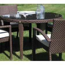 <strong>Hospitality Rattan</strong> Soho Patio Woven Round Dining Table with Umbrella Hole