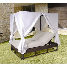 <strong>Hospitality Rattan</strong> Soho Patio Daybed with Curtains