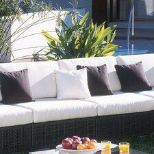 <strong>Hospitality Rattan</strong> Soho Patio Lounge Armless Chair with Cushion