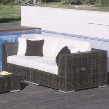 <strong>Hospitality Rattan</strong> Soho 2 Piece Deep Seating Group with Cushions