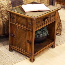 Polynesian 1 Drawer Nightstand