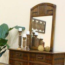 Polynesian Arched Dresser Mirror
